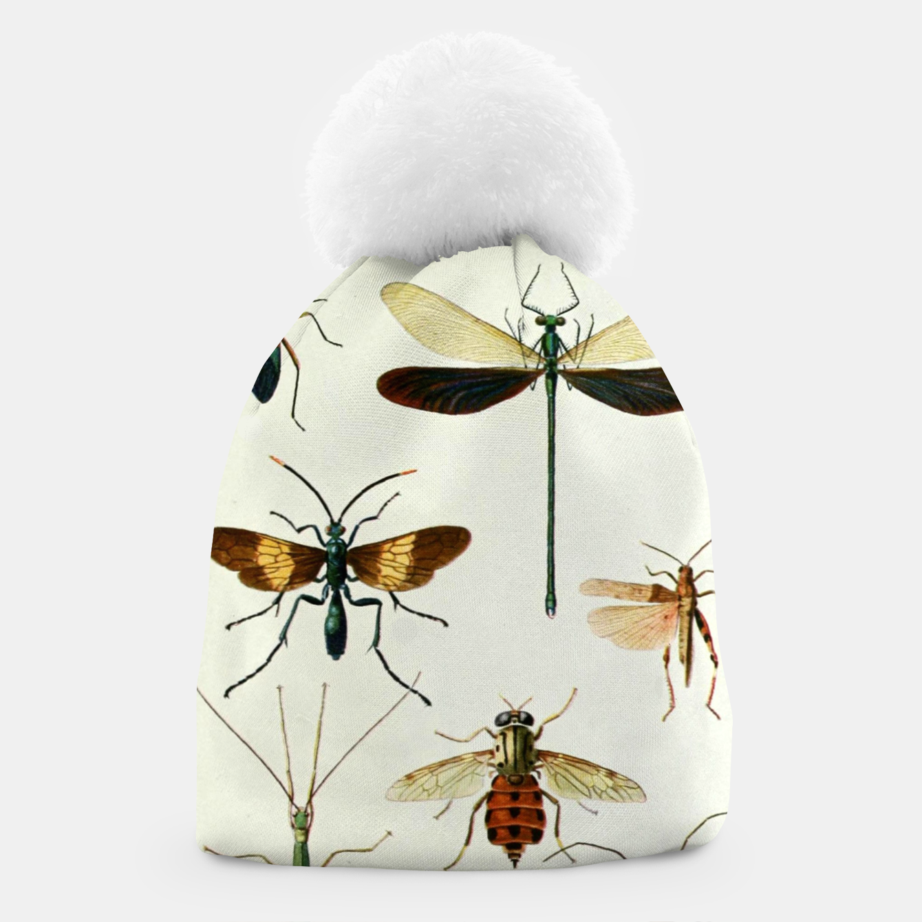 Foto Fashion art of a illustration from a Encyclopedia about Insects Beanie - Live Heroes