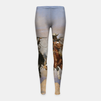 Thumbnail image of Fashion items of Frederic Remington painting - A dash for Timber Girl's leggings, Live Heroes