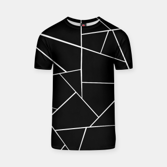 Miniaturka Black White Geometric Glam #3 #geo #decor #art T-Shirt, Live Heroes