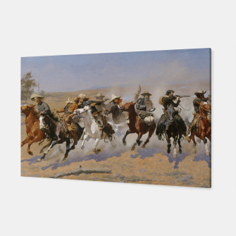 Thumbnail image of Fashion items of Frederic Remington painting - A dash for Timber Canvas, Live Heroes