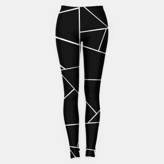 Miniaturka Black White Geometric Glam #3 #geo #decor #art Leggings, Live Heroes