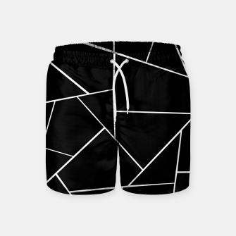 Miniaturka Black White Geometric Glam #3 #geo #decor #art Badeshorts, Live Heroes