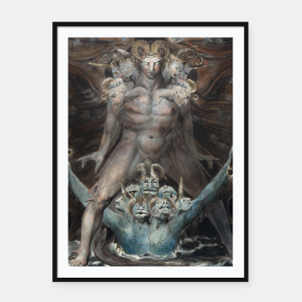 Thumbnail image of Fashion items of William Blake illustration , The Great Red Dragon and the Beast from the Sea Framed poster, Live Heroes
