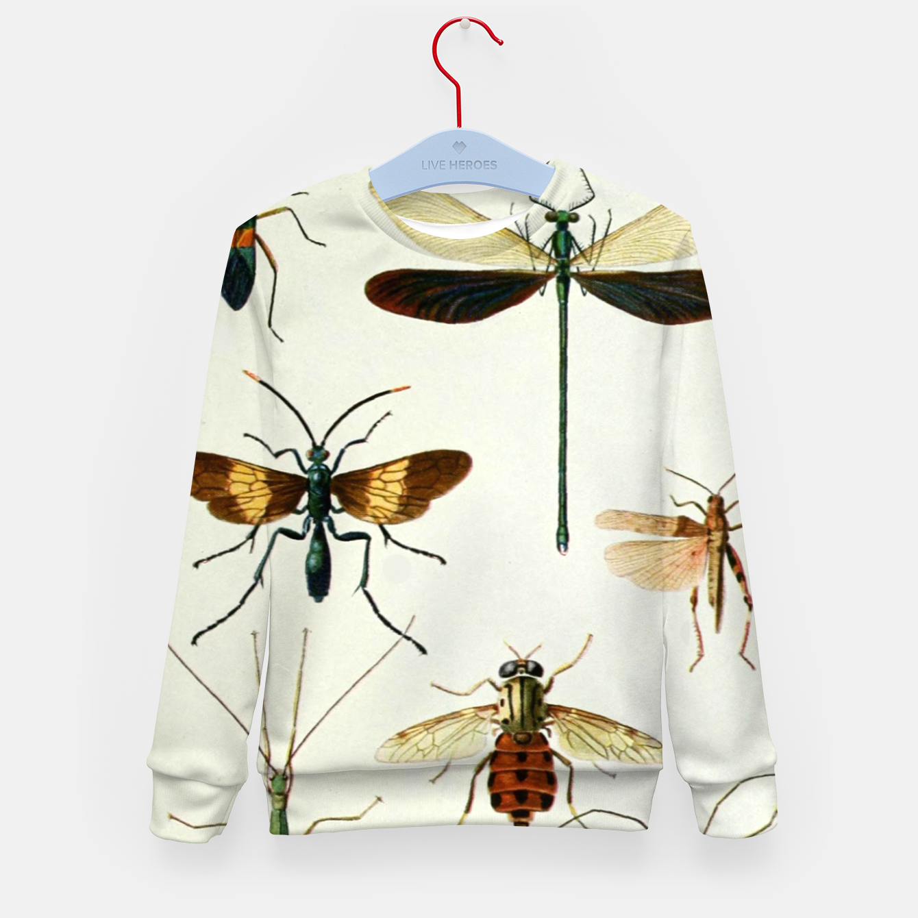 Foto Fashion art of a illustration from a Encyclopedia about Insects Kid's sweater - Live Heroes