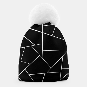 Miniaturka Black White Geometric Glam #3 #geo #decor #art Mütze, Live Heroes