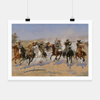 Thumbnail image of Fashion items of Frederic Remington painting - A dash for Timber Poster, Live Heroes