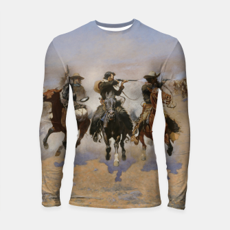 Miniaturka Fashion items of Frederic Remington painting - A dash for Timber Longsleeve rashguard , Live Heroes