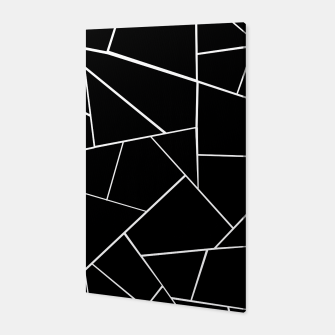 Thumbnail image of Black White Geometric Glam #3 #geo #decor #art Canvas, Live Heroes