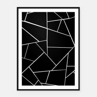Thumbnail image of Black White Geometric Glam #3 #geo #decor #art Plakat mit rahmen, Live Heroes