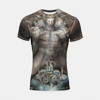 Thumbnail image of Fashion items of William Blake illustration , The Great Red Dragon and the Beast from the Sea Shortsleeve rashguard, Live Heroes