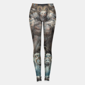 Imagen en miniatura de Fashion items of William Blake illustration , The Great Red Dragon and the Beast from the Sea Leggings, Live Heroes