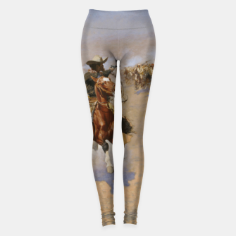 Imagen en miniatura de Fashion items of Frederic Remington painting - A dash for Timber Leggings, Live Heroes