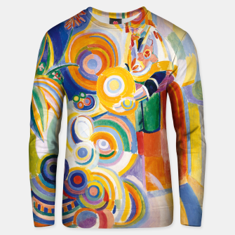 Miniatur Fashion items of Robert Delaunay painting - Portuguese Woman (Mulher Portuguesa) Unisex sweater, Live Heroes