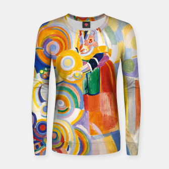 Miniatur Fashion items of Robert Delaunay painting - Portuguese Woman (Mulher Portuguesa) Women sweater, Live Heroes