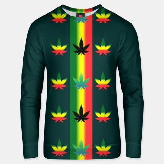 Thumbnail image of blue green tropical Unisex sweater, Live Heroes