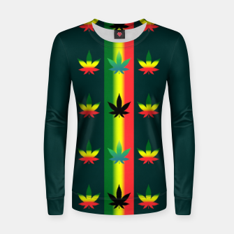 Thumbnail image of blue green tropical Women sweater, Live Heroes