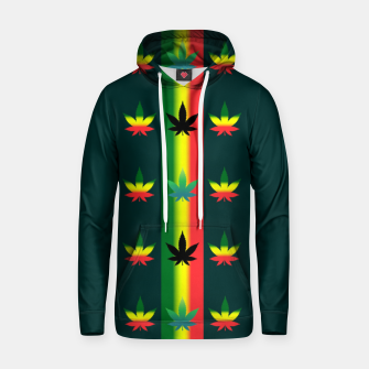 Thumbnail image of blue green tropical Hoodie, Live Heroes