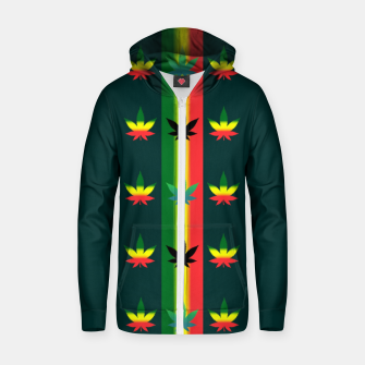 Thumbnail image of blue green tropical Zip up hoodie, Live Heroes