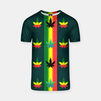 Thumbnail image of blue green tropical T-shirt, Live Heroes