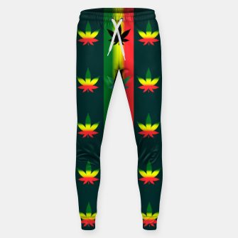 Thumbnail image of blue green tropical Sweatpants, Live Heroes
