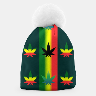 Thumbnail image of blue green tropical Beanie, Live Heroes