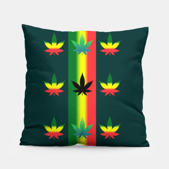 Thumbnail image of blue green tropical Pillow, Live Heroes