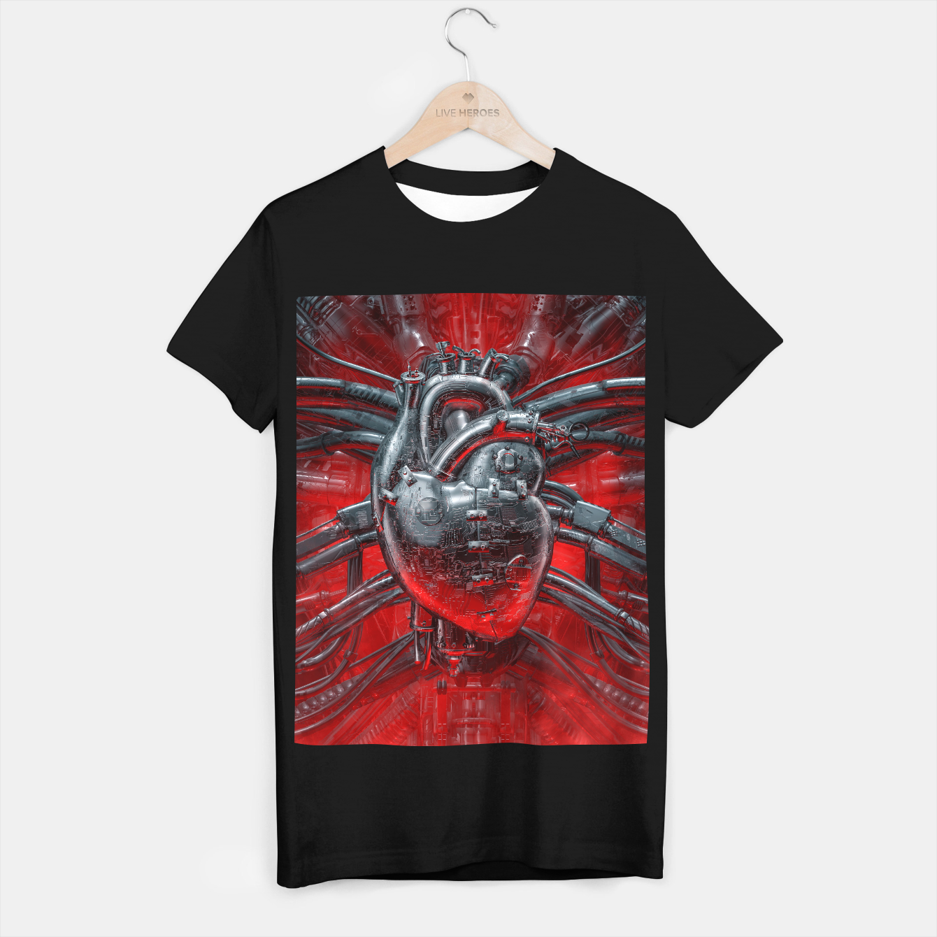Image of Heart Of The Gamer T-shirt regular - Live Heroes