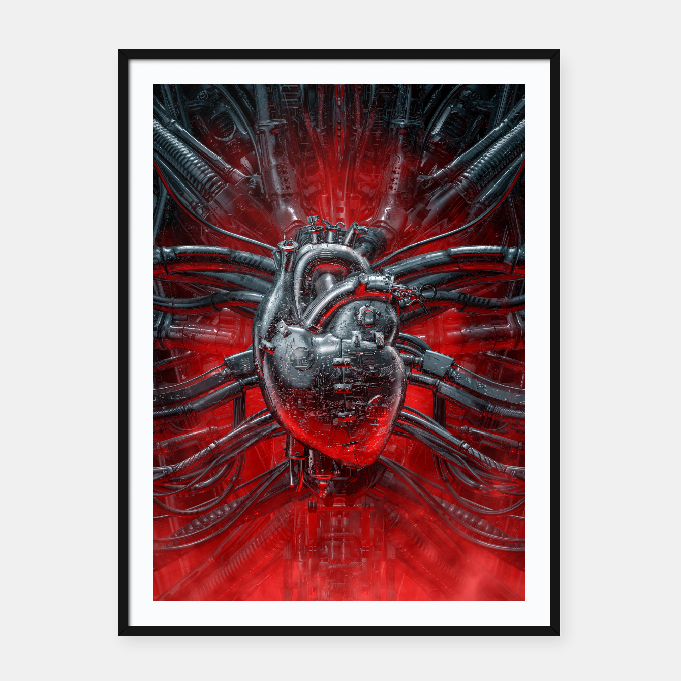Image of Heart Of The Gamer Framed poster - Live Heroes