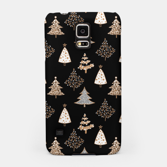 Seamless Merry Christmas abstract fur tree pine tree black Samsung Case thumbnail image