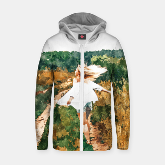 Thumbnail image of Free Spirit II Zip up hoodie, Live Heroes