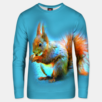 Thumbnail image of Squirrel in modern style Unisex sweatshirt, Live Heroes