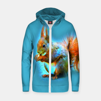 Thumbnail image of Squirrel in modern style Reißverschluss kapuzenpullover, Live Heroes