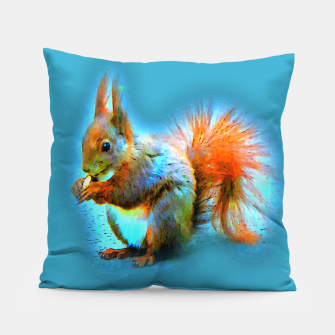 Thumbnail image of Squirrel in modern style Kissen, Live Heroes