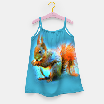 Thumbnail image of Squirrel in modern style Mädchenkleid, Live Heroes
