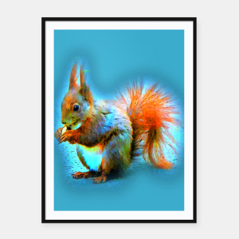 Thumbnail image of Squirrel in modern style Plakat mit rahmen, Live Heroes