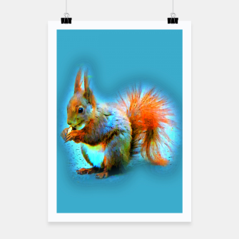 Thumbnail image of Squirrel in modern style Plakat, Live Heroes