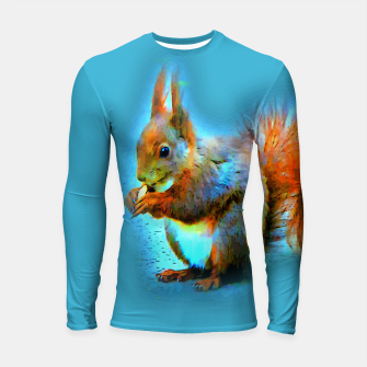 Thumbnail image of Squirrel in modern style Longsleeve rashguard, Live Heroes