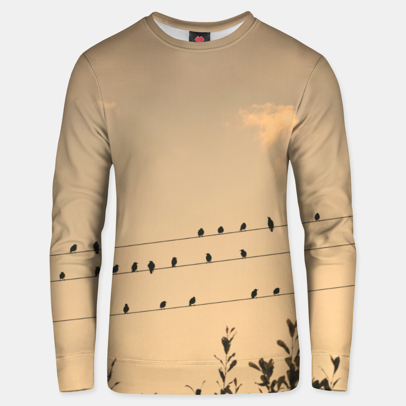 Foto BIrds on wires Unisex sweater - Live Heroes