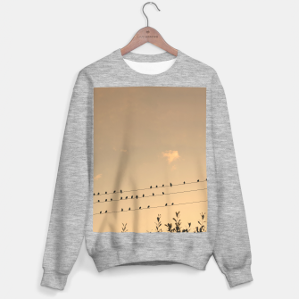Thumbnail image of BIrds on wires Sweater regular, Live Heroes