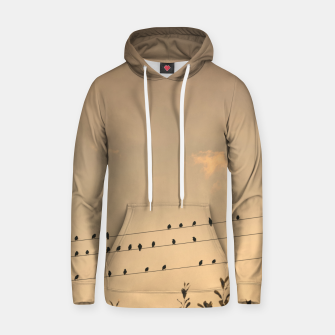 Miniatur BIrds on wires Hoodie, Live Heroes