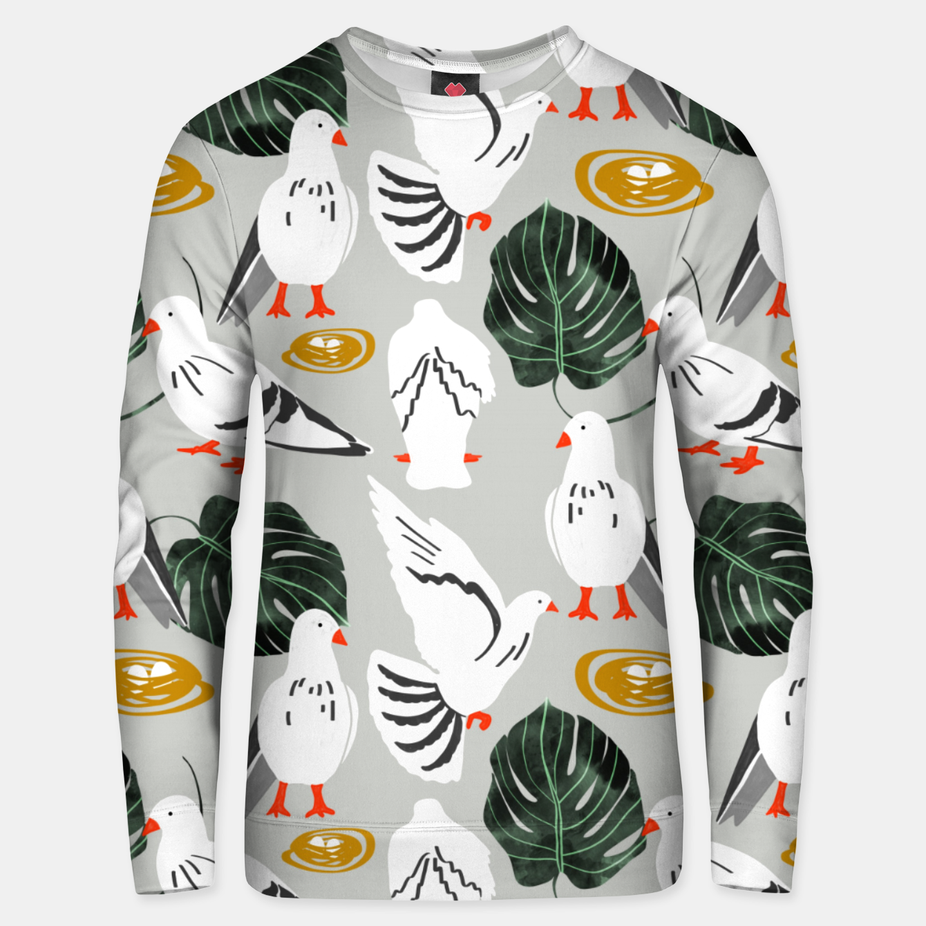 Image of White Pigeons Unisex sweater - Live Heroes
