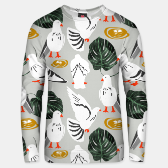 Thumbnail image of White Pigeons Unisex sweater, Live Heroes