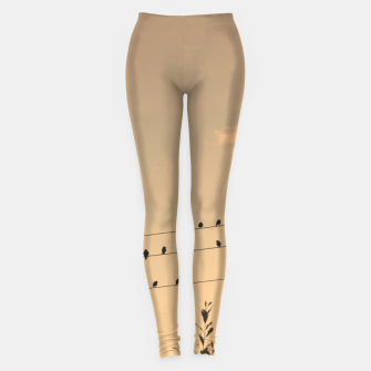 Thumbnail image of BIrds on wires Leggings, Live Heroes