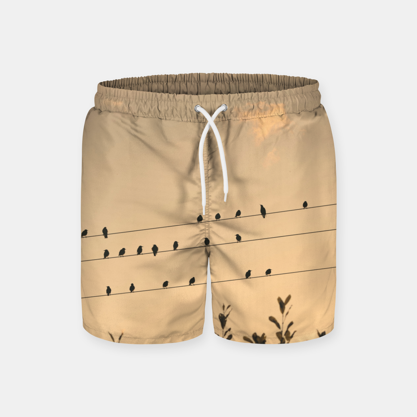 Foto BIrds on wires Swim Shorts - Live Heroes