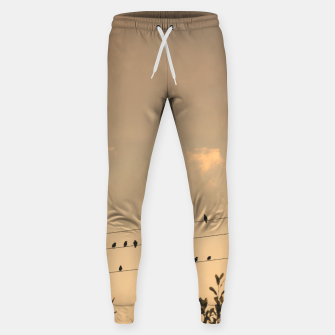 BIrds on wires Sweatpants Bild der Miniatur