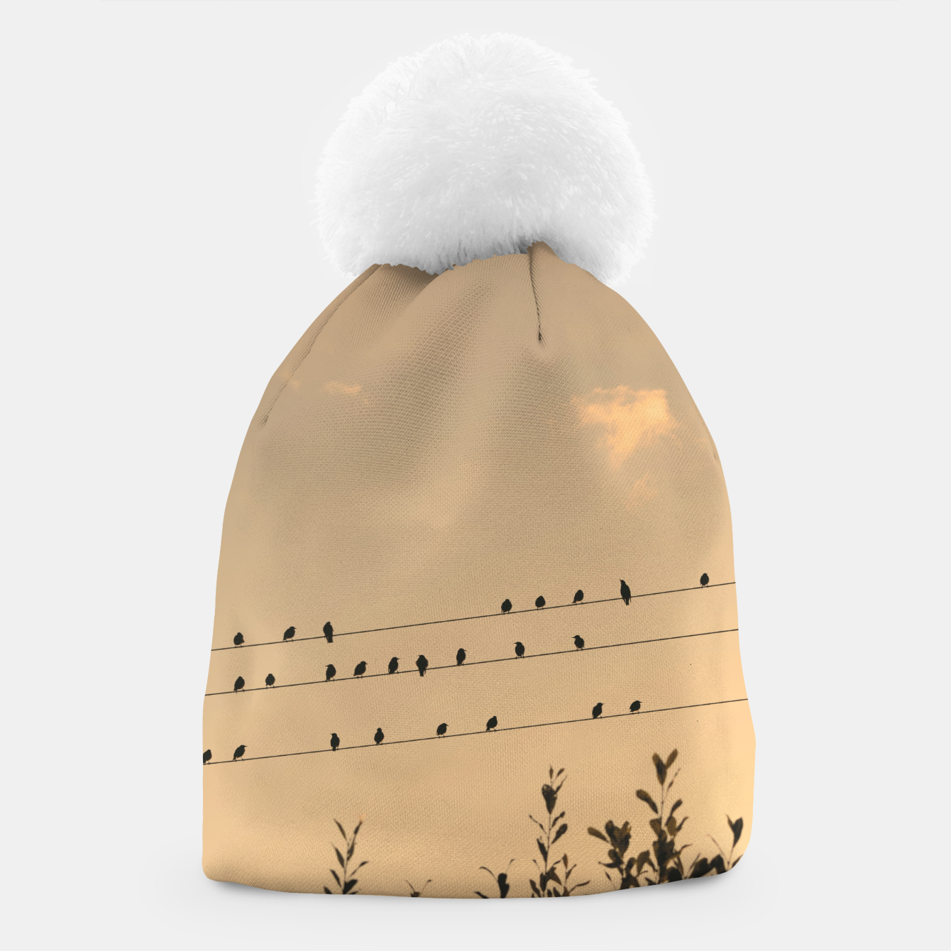 Foto BIrds on wires Beanie - Live Heroes