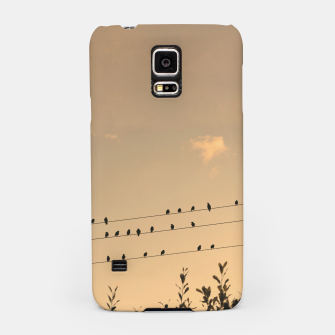 BIrds on wires Samsung Case Bild der Miniatur