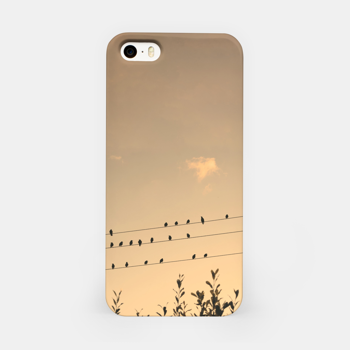 Foto BIrds on wires iPhone Case - Live Heroes