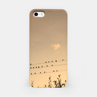 BIrds on wires iPhone Case Bild der Miniatur