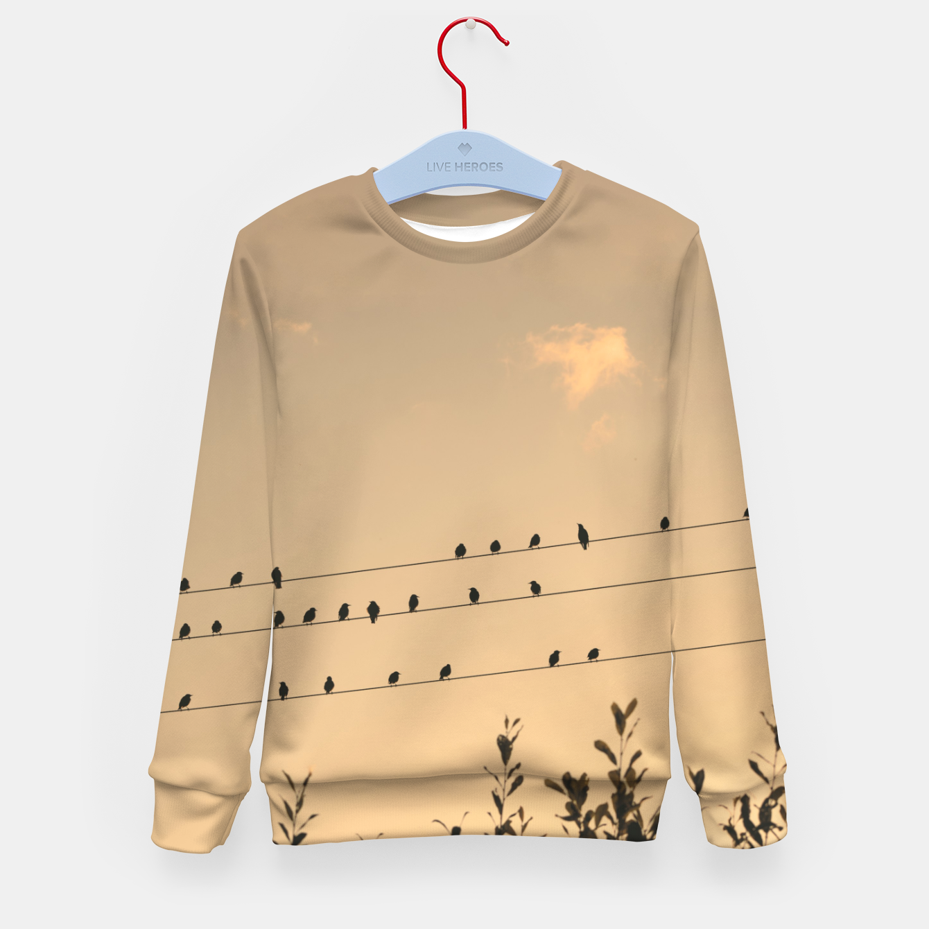 Foto BIrds on wires Kid's sweater - Live Heroes